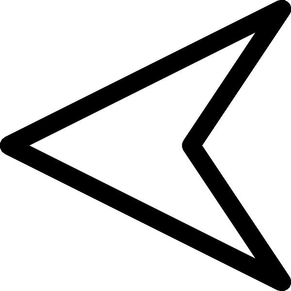 Plain Left White Arrow Clip Art at Clker.com - vector clip ...