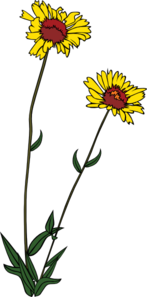 Yellow Wild Flower Clip Art