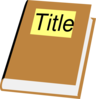 Book With Title Clip Art