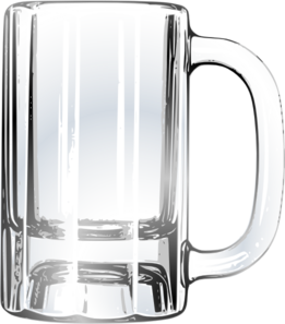 Empty Beer Mug Clip Art at Clker.com - vector clip art ... | 261 x 297 png 100kB