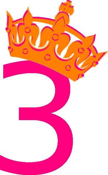 Pink Tilted Tiara And Number 2 Clip Art at Clker.com ...