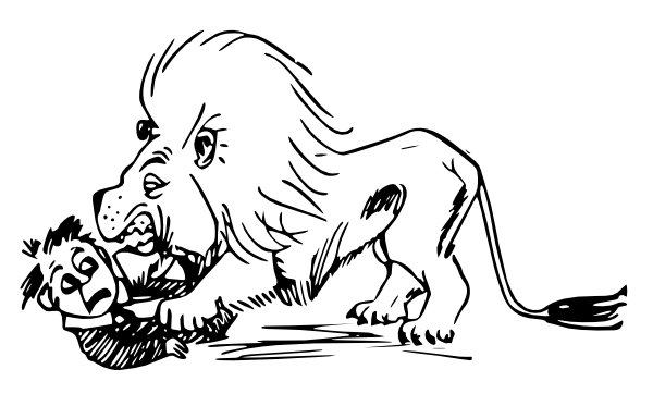 Hungry Lion Outline Clip Art at Clker.com - vector clip ...