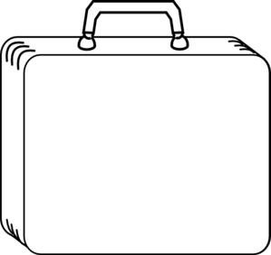 Plain White Suitcase Clip Art