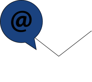 Email Icon White W/ Blue Clip Art