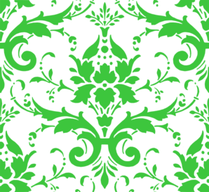 Light Green Damask Clip Art
