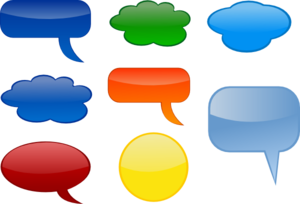 Speech-bubbles-colored Clip Art