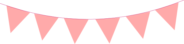 Pink Triangle Banner Clipart