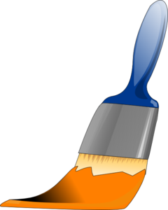 Paintbrush Orange Clip Art