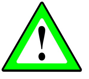 1 General Risk Green Clip Art