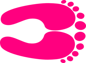 Pink Happy Feet Large Clip Art