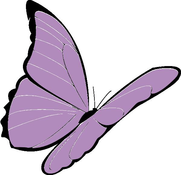 purple butterfly clip art at clkercom vector clip art