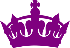 Purple Royal Crown Silhouette Clip Art