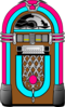 Pink And Blue Jukebox 3 Clip Art