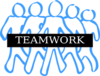 Team Work Blue Clip Art
