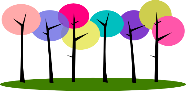 clipart trees and flowers - photo #33