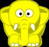 Cartoon Elephant Clip Art at Clker.com - vector clip art ...