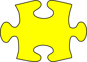 Yellow Jigsaw Puzzle Piece Large Clip Art