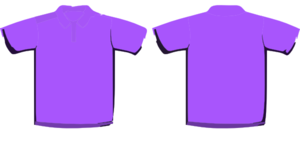 Violet Polo Shirt Hi Clip Art