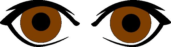 Brown Eyes Clip Art At Clker Com Vector Clip Art Online