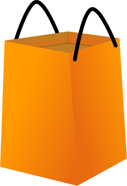 Shopping Bag With Black Handles Clip Art at Clker.com ...