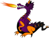 Purple Dragon With Flame Clip Art