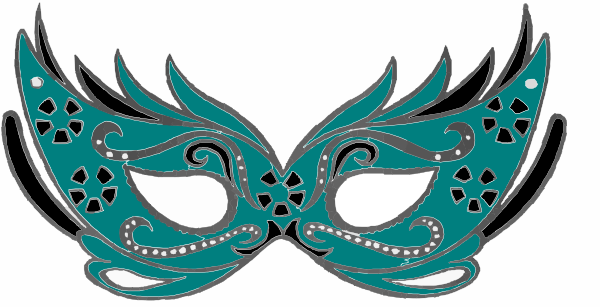 Clip Art Masquerade Clipart teal masquerade mask clip art at clker com vector download this image as