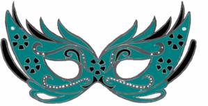 teal masquerade mask clip art at clker com vector clip art online rh clker com masquerade masks clip art png masquerade mask clip art free