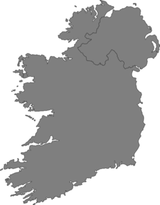 Ireland Contour Map Clip Art