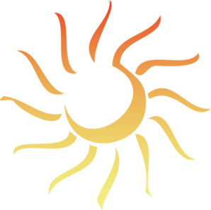 Abstract Sun - Revised Clip Art