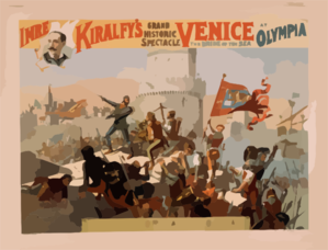 Imre Kiralfy S Grand Historic Spectacle, Venice, The Bride Of The Sea At Olympia Clip Art