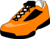 Orange Shoe Clip Art