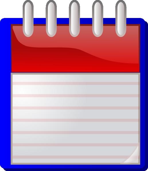 calendario fondo blu vuoto clip art at vector