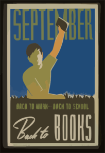 September. Back To Work--back To School, Back To Books Clip Art
