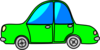 Car Green Cartoon Transport Clip Art