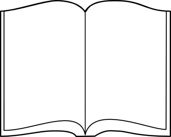 open book outline clip art at clker com