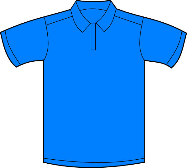 Polo Shirt Blue Front Clip Art at Clker.com - vector clip ...