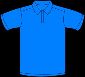 polo shirt blue front clip art at clker com vector clip art online rh clker com
