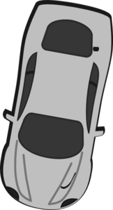 Gray Car - Top View - 260 Clip Art