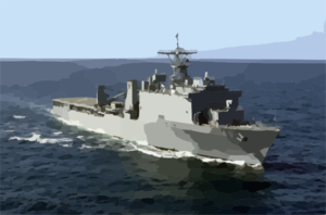 Uss Tortuga (lsd 46) Underway. Clip Art