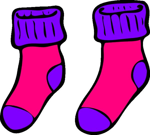 Pink Purple Sock Clip Art at Clker.com - vector clip art online ...