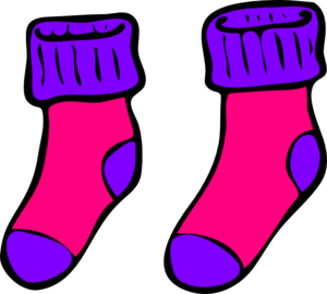 Pink Purple Sock Clip Art