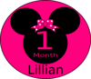 Minnie Mouse 1 Month E Clip Art