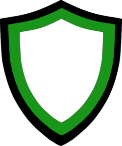 Balck And Green  White Shield Clip Art