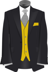 Golden Suit Clip Art