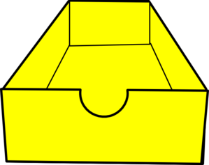 Yellow Shoe Box Clip Art