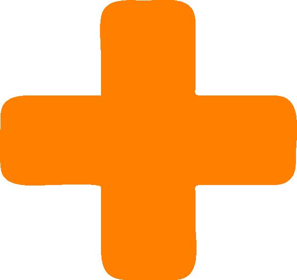 Orange Plus Sign Clip Art at Clker.com - vector clip art ...