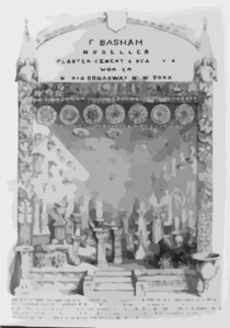 F. Basham, Modeller, Plaster, Cement & Scagliola Worker No. 408 Broadway, New York  / F.j. Palmer. Clip Art