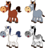 Cartoon Horses Clip Art