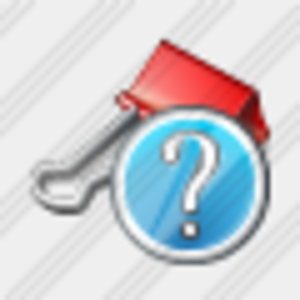 Icon Paper Clip Question Image