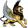 Winged Lion Clipart Image